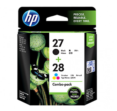 HP 27/28 (CC628AA) Combo Pack Ink Cartridges (Black/Tri-Color)