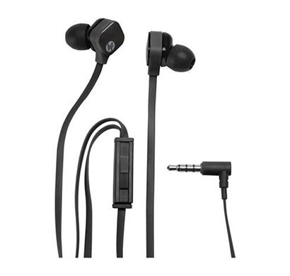 hp h2310 (j8h42aa) in-ear headset ( black)