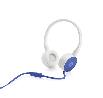 hp h2800 stereo headset with mic (blue)