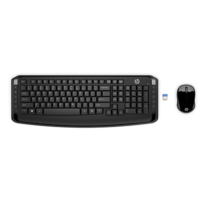 hp 300 (3ml04aa) wireless keyboard and mouse combo (black)