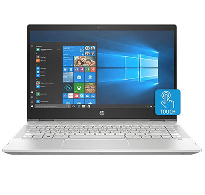 HP Pavilion x360 14- CD0077TU Intel Core i3 8th Gen 14-Inch (4GB RAM/ 1TB+8GB SSHD/ Intel UHD Graphics 620/ Windows 10 ) Mineral Silver