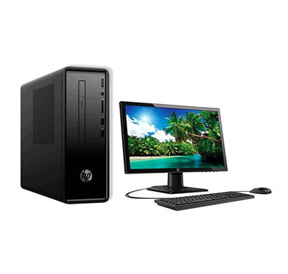 HP Slimline Tower 290-a0020in (6DV24AA) Desktop PC (Intel Celeron/ 8th Gen/ 4 GB RAM/ 1 TB HDD/ Windows 10 Home/ 19.5 Inch Screen), Black
