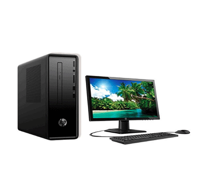 HP Slimline 290-a0020in Desktop Pc (Intel Celeron J4005/ 7th Gen/ 4 GB RAM/ 1 TB HDD/ Windows 10 Home/ 20 Inch Screen/ USB USB KBD+ MOUSE ),Black