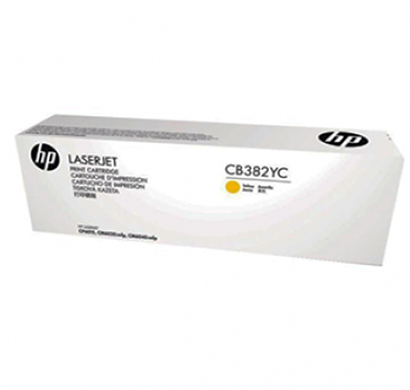 hp 824a yellow contract lj toner cartridge - cb382yc, 1 year warranty