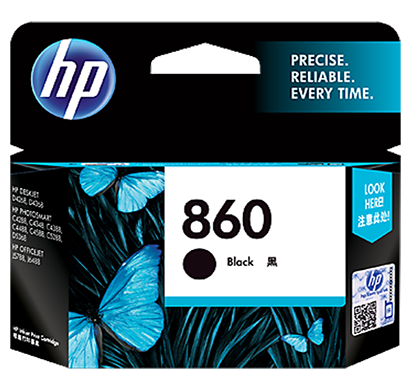 hp 860 black inkjet print cartridge - cb335zz, 1 year warranty