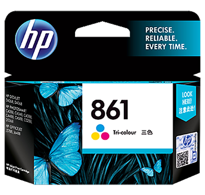 hp 861 tricolor inkjet print cartridge - cb337zz, 1 year warranty