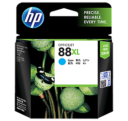 hp 88 large cyan ink cartridge -c9391a, 1 year warranty