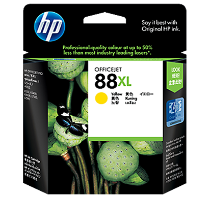 hp 88 large yellow ink cartridge - c9393a, 1 year warranty