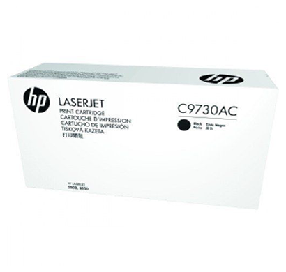 hp black contract laserjet toner cartridge- c9730ac, 1 year warranty