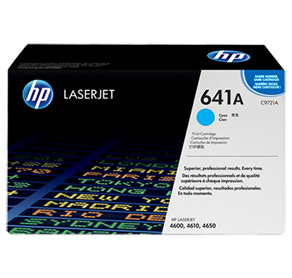 hp clj 4600 4650 cyan print cartridge- c9721a, 1 year warranty