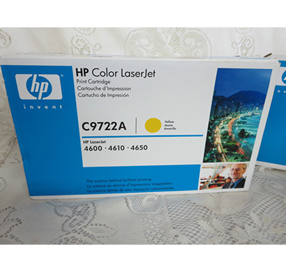 hp clj 4600, 4650 yellow print cartridge - c9722a, 1 year warranty