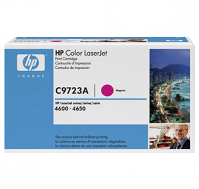 hp clj 4600, 4650 magenta print cartridge - c9723a, 1 year warranty
