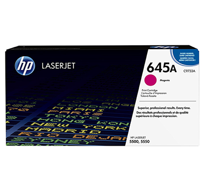 hp clj 5500 magenta print cartridge - c9733a, 1 year warranty
