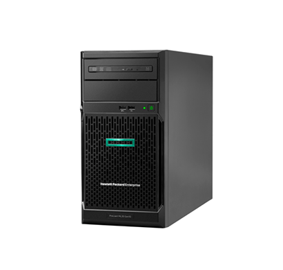 HPE ProLiant ML30 Gen10 Server (Intel Xeon E-2124 / 4 core, / 8 GB (1x 8 GB) UDIMM/Memory slots 4/ 1TB HDD 6G Sata 7.2K/4 large form factor drives supported / 350W ATX power supply /HPE Ethernet 1Gb 2-port 332i Adapter), Black