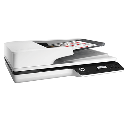 hp scanjet pro 3500 f1 flatbed scanner white and black