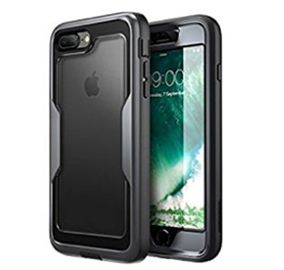 i-blason (b075jd7txm) magma series case for iphone x / iphone xs, (heavy duty protection) (clear back) shock reduction/full body bumper case with built-in screen protector (black)