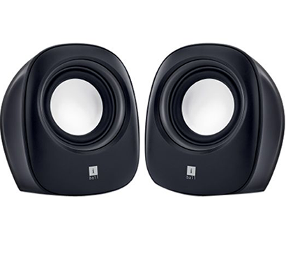 iBall- Soundwave 2, 2.0 Speaker, Black & White, 1Year Warranty