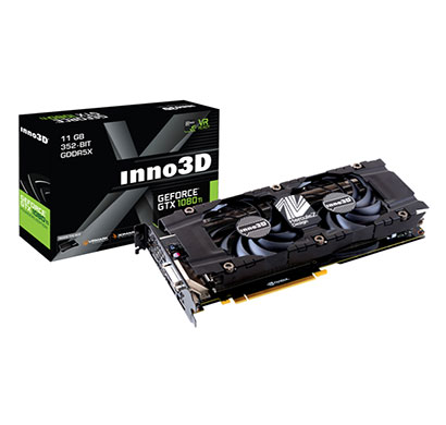 inno3d graphics card pascal series - gtx 1080 ti 11gb gddr5x twin x2 (n108t-1sdn-q6mn)