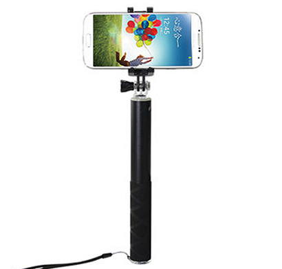 ipearl - ip14-po-08903f, folding plus selfie stick (enjoyable), 90cm maximum length, black
