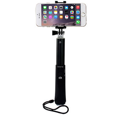 ipearl- ip14-po-08905a, folding plus selfie stick, wireless integrated edition, 90 cm length, black