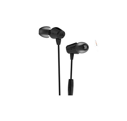 JBL T50HI In-Ear Headphones Universal Super Deep Bass Earphone with Mic (Black)