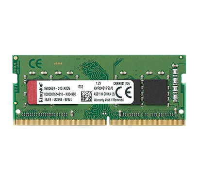 Kingston Value RAM 8GB 2400Mhz DDR4 Non-ECC CL17 SODIMM 1Rx8 (KVR24S17S8/8) laptop Memory