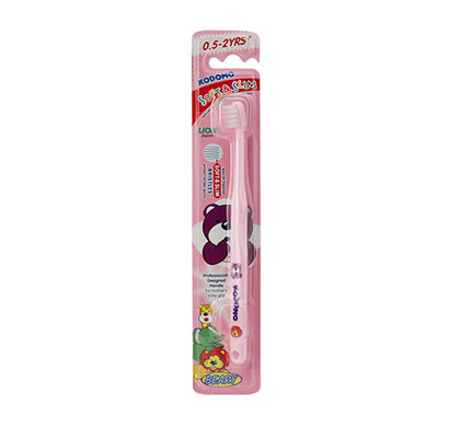 kodomo soft & slim toothbrush 0.5 - 2 years/ pink