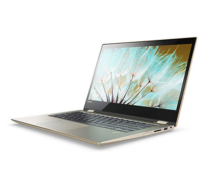 Lenovo Yoga 520 (81C800KGIN) Intel Core i3 8th Gen 14-inch Full HD 2-in-1 Touchscreen Laptop (4GB RAM/ 1TB HDD/ Windows 10 Home/ Gold Metallic/ 1.7kg)