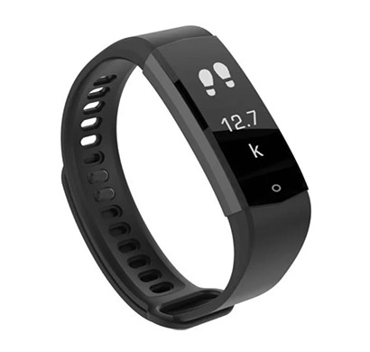 Lenovo (HX06) Active Smartband (Black Strap, Size Regular)