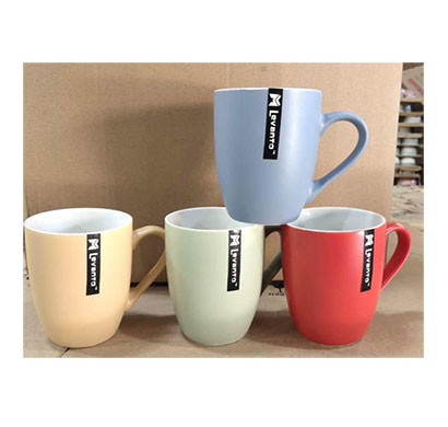 levanto mug/ multi colour/ multi design/ material ceramic ( set of 4)