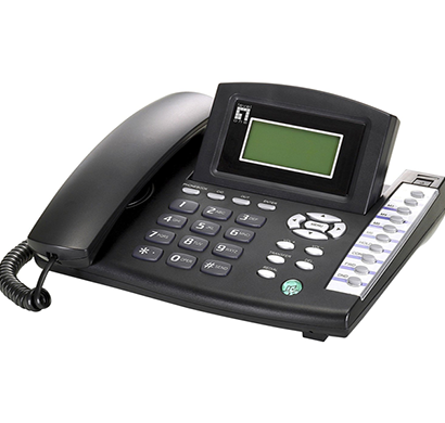LevelOne- VOI-7100, SIP PhoneTelephone w/ PoE, Black.