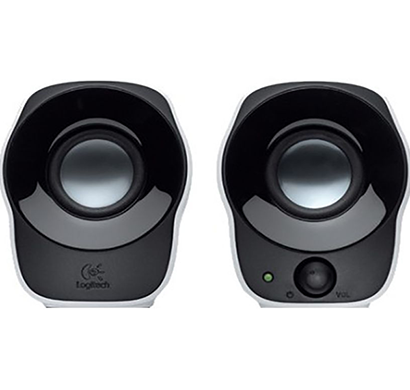 logitech- z120 , 2.0 mini desktop speakers, black, 1 year warranty