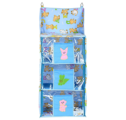 Love Baby (DKBC14 Blue P1) Economical Teddy Bear Kids Cupboard 3 Step Blue