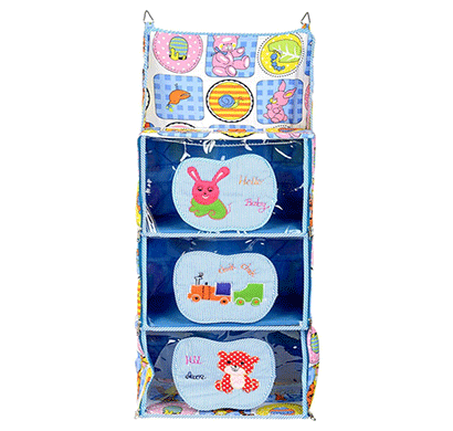 Love Baby (DKBC19 Blue P1) Cute Small to Big Kids Cupboard 3 Step Blue