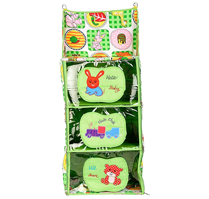 Love Baby (DKBC19 Green P1) Cute Small to Big Kids Cupboard 3 Step Green