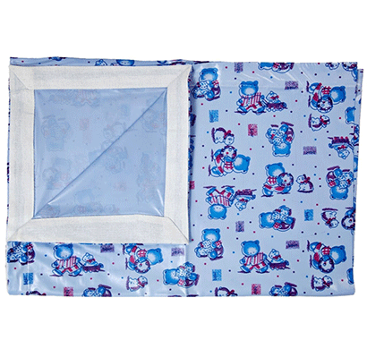 love baby soft bed sheet (plastic - 613 d) p10 blue