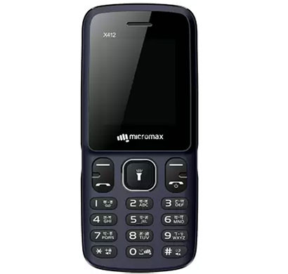 Micromax X412 Feature Phones 32 MB Dual Sim (Blue, Black & Red, Black & Grey)