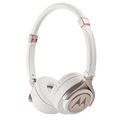 Motorola Pulse 3 Wired Stereo Over Ear Headphone (White Gold)