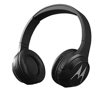 Motorola Escape 210 Over-Ear Bluetooth Headphones with Alexa (Black)