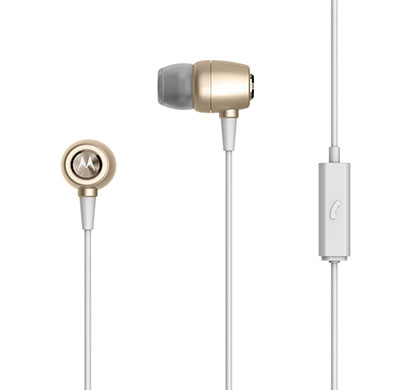 Motorola Earbuds Metal Headphones (Gold)