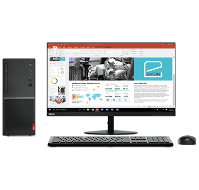 new lenovo tower 520 7thgen-corei3/ 4gb/ 1tb/ dos/ 19.5 inch desktop black