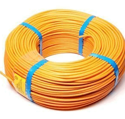 niki- 0.75(24/20) sqmm fr insulated two core pvc cable (yellow)