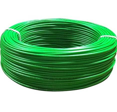 Niki- 0.75(24/20) SQmm FR Insulated Two Core PVC Cable (Green)