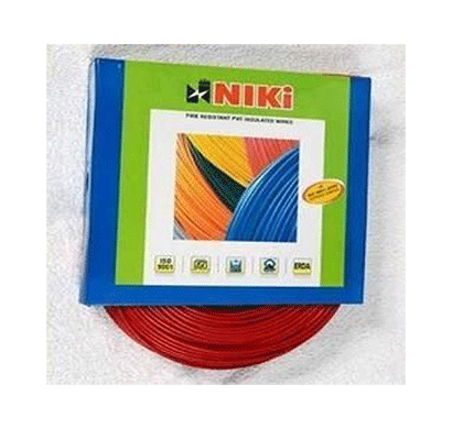 Niki 1.00(32/20) SQmm FR Insulated Two Core PVC Cable Red