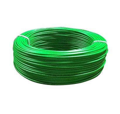 Niki 1.00(32/20) SQmm FR Insulated Two Core PVC Cable Green