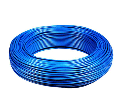 niki 1.00(32/20) sqmm fr insulated two core pvc cable blue