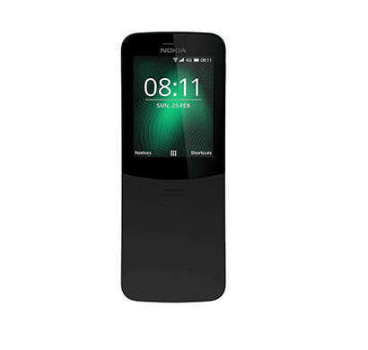 nokia 8110 (512 mb ram/ 4g dual sim/ 2.45 inch screen) mix colour