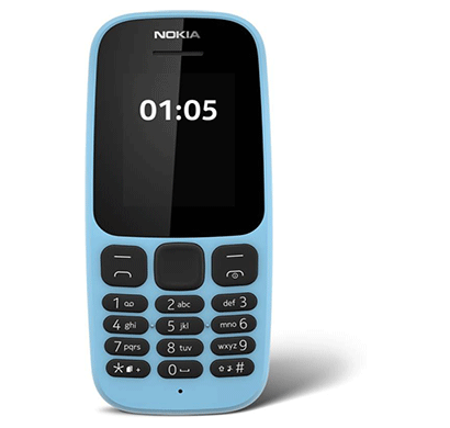 Nokia 105 SS 1.4-inch LCD Transmissive display (Blue)