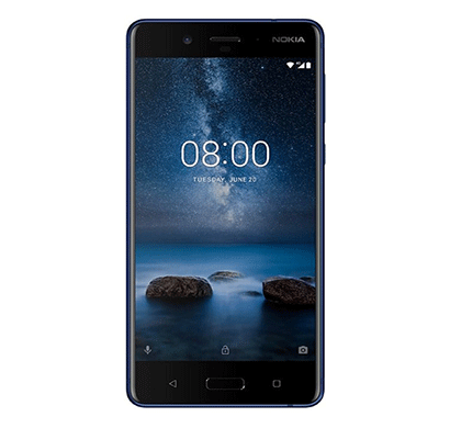 nokia 8, 13mp (mono) primary camera 4gb ram tempered blue, 64gb