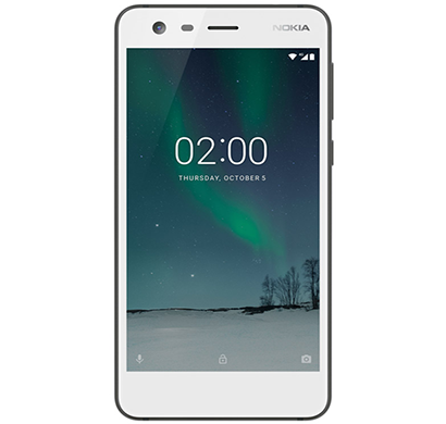 nokia - 2, mobile phone, 8 gb, white, 1 year warranty